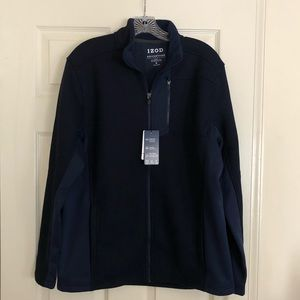 Men's IZOD SportFex Shaker Fleece Jacket sz M NWT